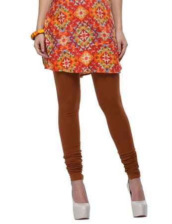 frenchtrendz-cotton-spandex-brown-churidar-legging
