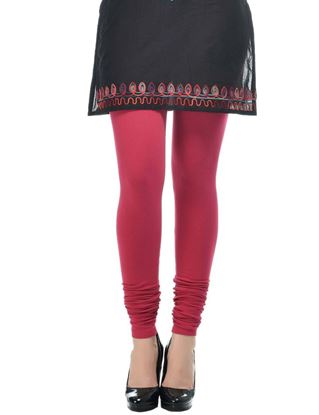 frenchtrendz-cotton-spandex-dark-fuchsia-churidar-legging