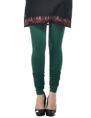 frenchtrendz-cotton-spandex-dark-green-churidar-legging