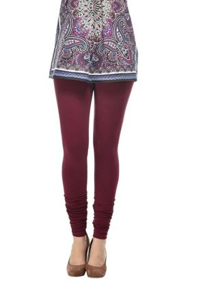 frenchtrendz-cotton-spandex-dark-maroon-churidar-legging