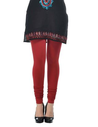 frenchtrendz-cotton-spandex-maroon-churidar-legging