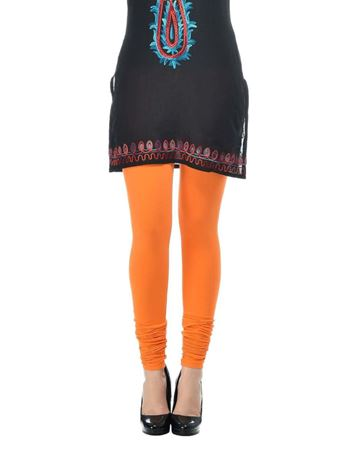 frenchtrendz-cotton-spandex-orange-churidar-legging