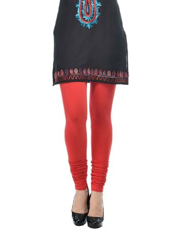 frenchtrendz-cotton-spandex-red-churidar-legging