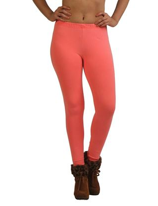 frenchtrendz-cotton-spandex-neon-coral-ankle-legging