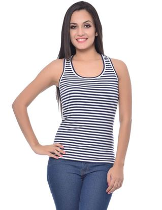 frenchtrendz-cotton-spandex-navy-white-medium-racerback-stripe-tank-top