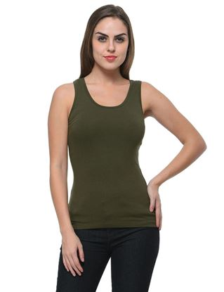 frenchtrendz-cotton-spandex-olive-tank-top