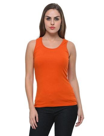 frenchtrendz-cotton-spandex-rust-tank-top