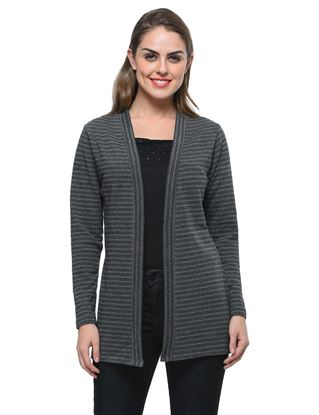 frenchtrendz-cotton-jacquard-black-grey-long-winter-shrug