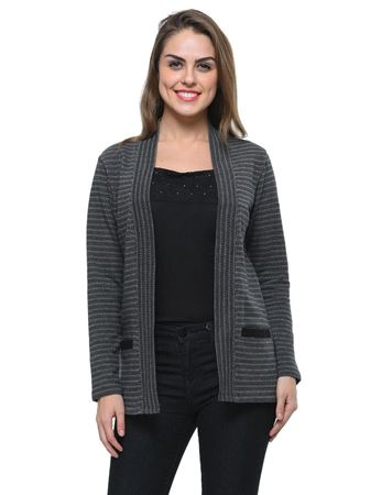 frenchtrendz-cotton-jacquard-black-grey-pocket-shrug