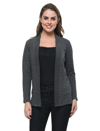 frenchtrendz-cotton-jacquard-black-grey-winter-shrug