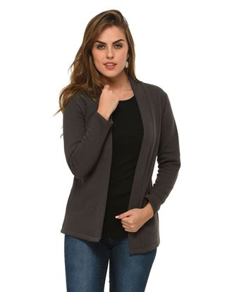 frenchtrendz-cotton-poly-fleece-dark-grey-winter-shrug
