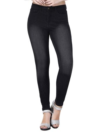 Picture of Frenchtrendz Cotton Viscose Vortex Spandex Jeans Style Denim Black Jeggings