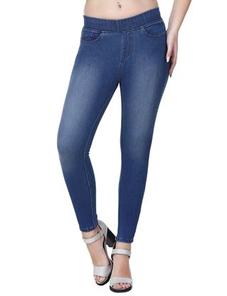 Picture of Frenchtrendz Cotton Viscose Spandex Shape Style Indigo Wash Jeggings