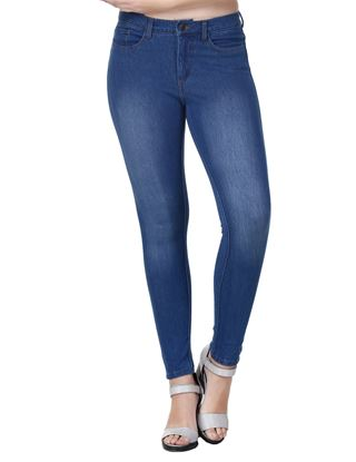 Picture of Frenchtrendz Cotton Viscose Spandex Jeans Style Indigo Wash Jeggings