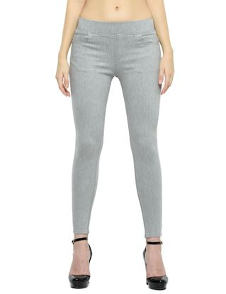 Picture of Frenchtrendz Cotton Viscose Spandex Shape Style Grey Denim Jeggings