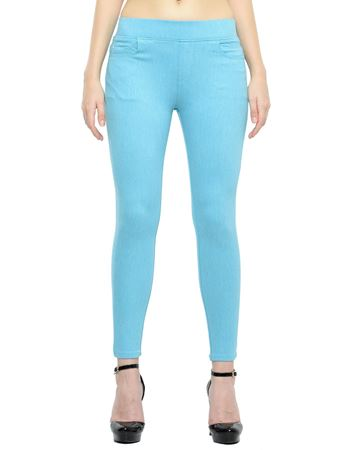 Picture of Frenchtrendz Cotton Viscose Spandex Shape Style Turquish Denim Jegging