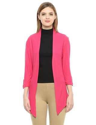 Picture of Frenchtrendz Viscose Crepe Swe Pink Shrugs