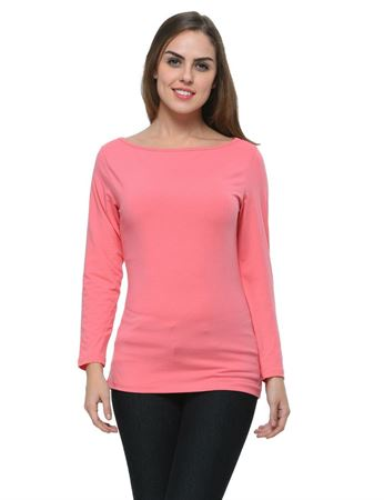frenchtrendz-boat-neck-cotton-spandex-coral-top