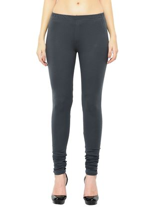 Picture of Frenchtrendz Cotton Spandex Slate Churidar Leggings