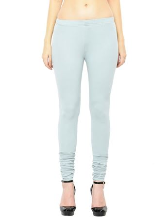 Picture of Frenchtrendz Cotton Spandex Light Slate Churidar Leggings