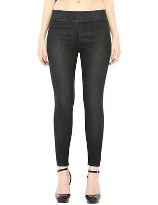 black wash jeggings
