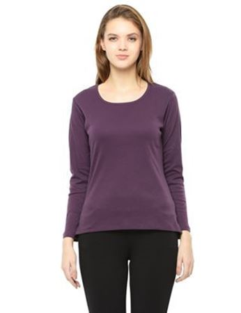 purple basic full sleeve t-shirt