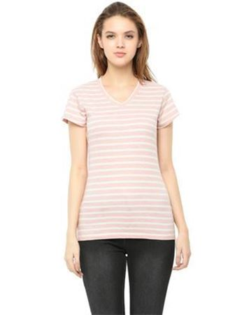 baby pink & white striped top