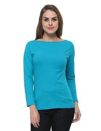 frenchtrendz-boat-neck-cotton-spandex-turq-top