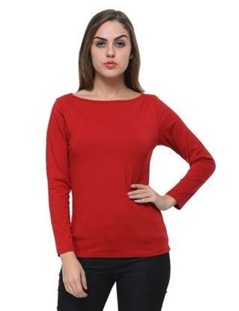 frenchtrendz-boat-neck-cotton-spandex-maroon-top