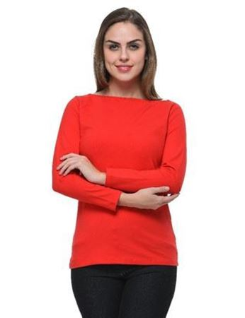 frenchtrendz-boat-neck-cotton-spandex-red-top