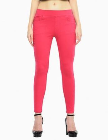 Red Denim Jeggings
