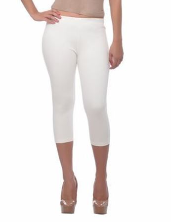 White 3/4 Jeggings