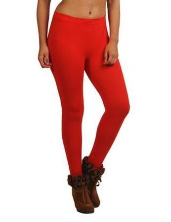 Red Ankle Leggings